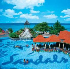 Sandals Dunns River Falls- Ocho Rios, Jamaica. Celebrate my anniversary here and loved it! Too bad it's not owned by Sandals anymore.