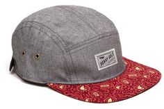 Cloud Paisley Grey Chambray 5panel Camp Hat