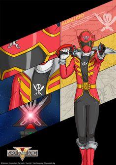 Gokai Red by Yuuyatails on DeviantArt Power Rangers Memes, Power Rangers Fan Art, Mighty Power Rangers, Desenho Do Power Rangers, Power Rangrs, Naruto Sage, Power Rangers Megaforce, Bat Family, Cultura Pop