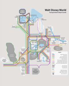 Walt Disney World Monorail Expansion Map.   Disney in 2019   Disney ...