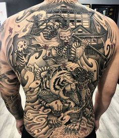 Dragon Tattoo Full Back, Full Back Tattoos, Back Tattoos For Guys, Japanese Back Tattoo, Japanese Tattoo Designs, Tribal Dragon Tattoos, Japanese Dragon Tattoos, Back Piece Tattoo, Chest Piece Tattoos