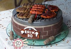 Birthday Cake For Adults Men Happy 66 Ideas - birthday cake Birthday Bbq, Birthday Cakes For Men, Women Birthday, Cake Birthday, Cute Cakes, Yummy Cakes, Fondant Cakes, Cupcake Cakes, Bbq Cake