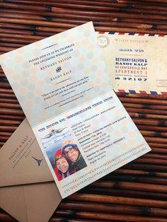 Wanderlust Passport Invitations great for birthdays, weddings, showers