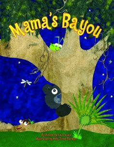 Mama's Bayou uses fibrous and painted cut paper along with deep blues and greens to accent the sounds of the bayou at night. Fibrous, pulpy paper indicates leaves and moss. Thick brush strokes of the painted paper used to create the animals contrast with the softness of the vegetation. Large eyes make the animals seem a bit goofy and let the reader know there's nothing to be afraid of in this bayou at night. This work is a textural wonder.