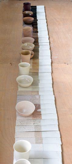 kirstie van noort- glaze line blend project Ceramic Pottery, Ceramic Art, Ceramic Shop, Ceramic Cups, Nude Colors, Cerámica Ideas, Design Textile, Ceramic Techniques, Color Palettes