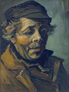 van Gogh - Head of a peasant [1884]