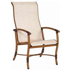 Woodard Glade Isle Sling High Back Dining Arm Chair