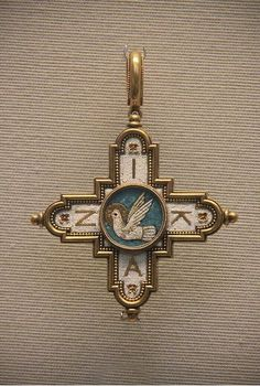 Castellani micromosaic pendant