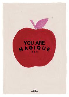 HOTEL MAGIQUE Apple art print. Shop online HOTELMAGIQUE.COM