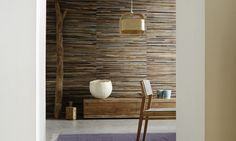 This wallcovering collection is the result of a long collaboration with exceptional creators. Product of paradise islands, its authenticity and its modernity make it unique. A selection of 5 wall finishes, in 27 references and colors.  Once dry, the abaca fibers* are processed, softened, dyed with natural pigments, and finally either woven or pasted onto the backing. These operations demand patience, vigilance and an acute artistic sense. Each production is unique, and one linear meter...