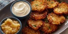 Get traditional Hanukkah recipes plus new spins on old favorites, from your favorite Food Network chefs. Hanukkah Latkes 7 Ways Hanukkah Latkes 7 Ways : Food Network Food Network Recipes, Food Processor Recipes, Cooking Recipes, Hanukkah Food, Hanukkah Recipes, Happy Hanukkah, Hanukkah Celebration, Hannukah, Jewish Recipes
