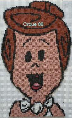 Wilma Flintstone hama beads by marmotte88130