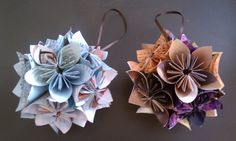 Nadia's DIY Projects: DIY Origami Ornaments Made From Magazine Paper