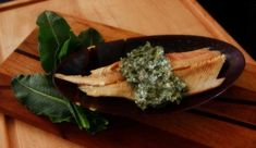 trout with tangy dock sauce
