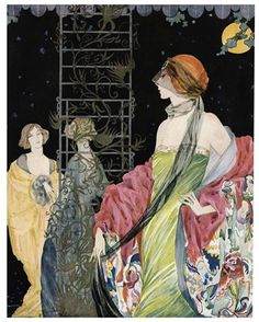 Fashion Girl Ladies Flowers Vogue Art Deco Roses Vintage Poster Repro FREE SH