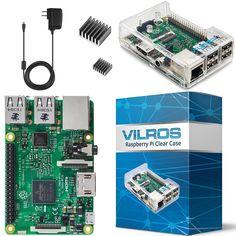 Vilros Raspberry Pi 3 Basic Starter Kit WiFi Bluetooth Black Case for sale online Computer Accessories, Tech Accessories, Raspberry Pi, Starter Kit, Computers, Black, Laptops, Wifi, Bluetooth