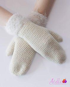 Birta: Beautiful and feminine Bosnian Crocheted mittens.