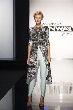 Designer Allie's look on Project Runway Junior