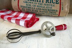Vintage Hand Mixer, Vintage Egg Beater, Primitive Country Cabin, Rustic  Farmhouse Kitchen Accessories, Red Kitchen Decor on Etsy, $12.95