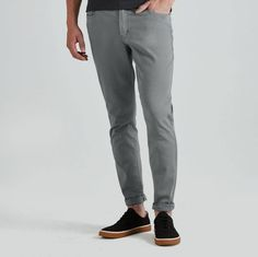 Lincoln Twill Pants in Moon Mist | Frank & Oak