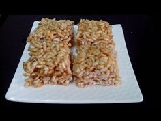 Kurmura Chikki / Crispy Murmura Chikki (Puffed Rice) by Kalpana Talpade Puffed Rice, Dairy Free Recipes, Free Food, Healthy Snacks, Breakfast Recipes, Yummy Food, Peanuts, Sweets, Dishes