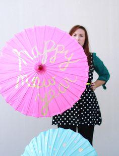 DIY: Umbrella party props | papernstitch