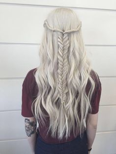 Do this half up half down fish tail!