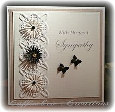 "7"" card with Creative Expressions & Tattered Lace Daisy Dies on Linen Textured Cardstock"