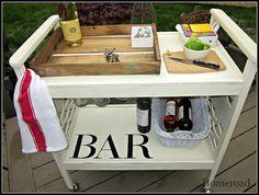 Beverage cart... repaint, add wine glass holder
