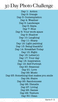 new 30 Day Photo Challenge #photography