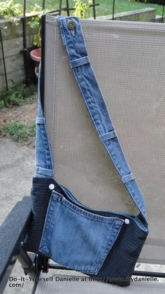 Do-It-Yourself Danielle: DIY Jeans and Dress Pants Upcycle: Part IV. DIY Purse with Jeans and Dress Pants.
