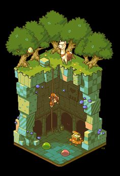 Pixel art and tutorials from an artist with really cute work