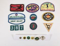Girl Scout Patches, Pins, 18 Pieces, Merit Scout Badges, Girl Scout Pins, Cookie, Nut Badge, Star Pins, Troop, Brownie, Girl in the Game by BarnabyGlenVintage on Etsy