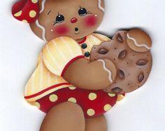 L'amour est le pain d'épice maison peinture par GingerbreadCuties