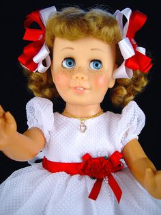"""Chatty Cathy dress, fits  18""""-20"""" doll. AG.  Little Charmers Doll Designs"""