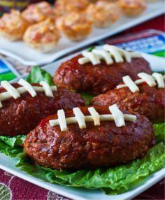 Football Mini Meatloaf #food #foodtrends