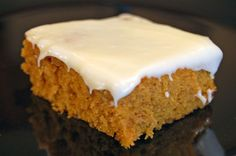 pumpkin sheet cake with cream cheese icing