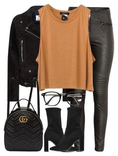 """Untitled #3178"" by elenaday ❤ liked on Polyvore featuring H&M, Acne Studios, Stuart Weitzman and Gucci"