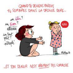 Illustration Mathou ~ Humour ~ Mère fille ~ Les joies d'être maman