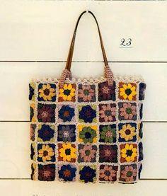 """"""" MOSSITA BELLA PATRONES Y GRÁFICOS CROCHET """": Bolsa con flores tan colorida bella =0)"""