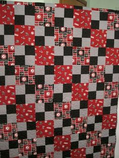 Alabama quilt saved from Pinterest. Diagonal Checker Board pattern
