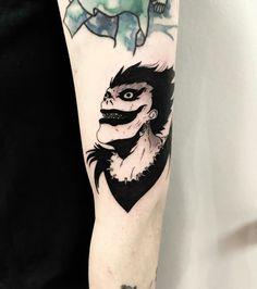 From a couple years ago Done at mainstreettattoocompany Manga Tattoo, Comic Tattoo, Anime Tattoos, Body Art Tattoos, Small Tattoos, Sleeve Tattoos, Cool Tattoos, Future Tattoos, Tattoos For Guys