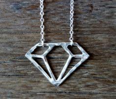 Silver Cutout Necklace