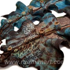 Felted scarf 3D ART made from natural wool and silk Rust Teal Roots Gold Shibori Cocoons