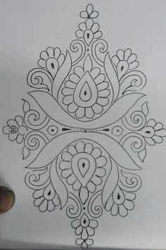 Hand Embroidery Patterns Free, Border Embroidery Designs, Embroidery Suits Design, Hand Work Embroidery, Gold Embroidery, Embroidery Stitches, Stencil Patterns, Stencil Designs, Pattern Art