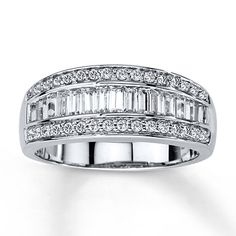 Diamond Anniversary Band 3/4 carat tw 14K White Gold
