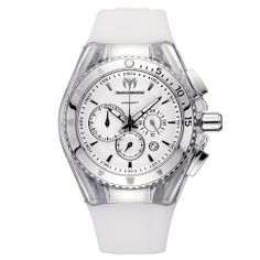 TechnoMarine Unisex 110046 Cruise Original Chronograph Silver Dial Watch TechnoMarine. $445.50. Comes with and extra white cover and black silicone strap. Chronograph Quartz 40 mm stainless steel bezel. Silver dial. Clear transparent cover and white silicone strap. Water-resistant to 660 feet (200 M). Save 10%!
