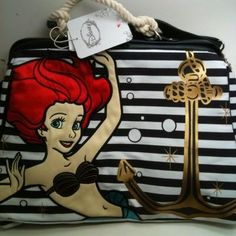 Wish   Disney Ariel Little Mermaid Purse Handbag Loungefly LE Rare New!
