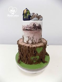 a tourist cake - Cake by MOLI Cakes Camping Cakes, Cakes For Boys, Cake Decorating, Awesome Cakes, Desserts, Daily Inspiration, Clever, Food, Decorations