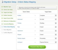 8. Order Statuses Mapping